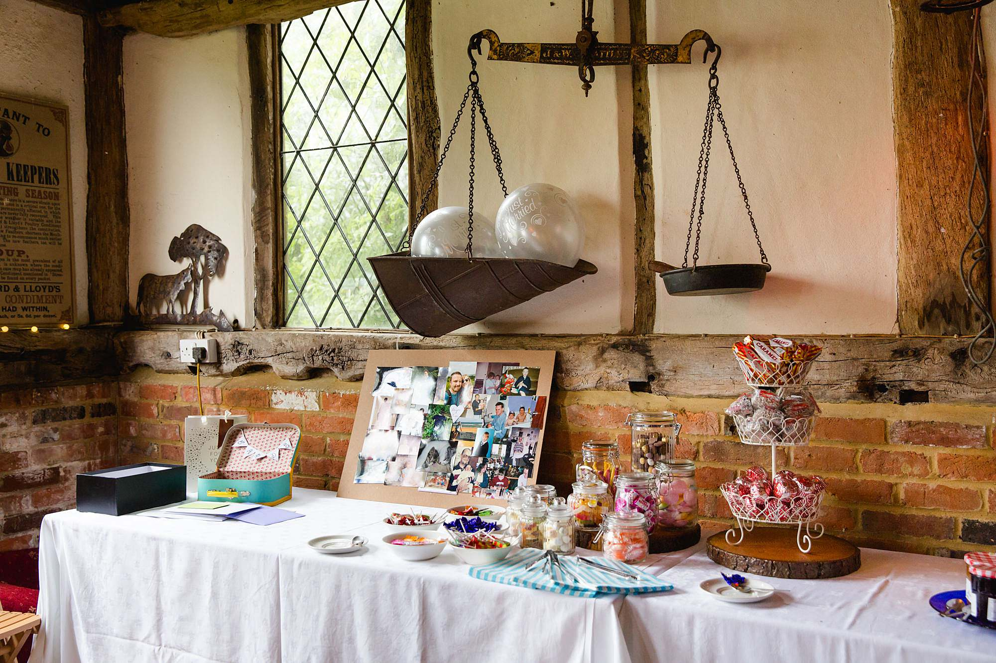 Fun DIY wedding sweetie and dessert table