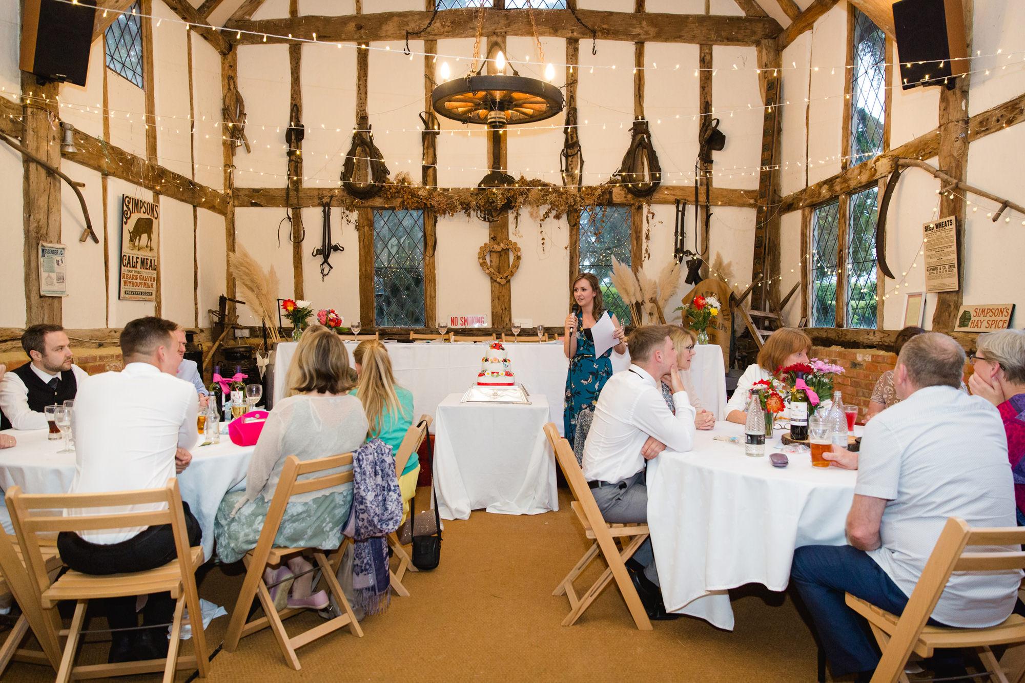 quiz caller at norwood farm Fun DIY wedding