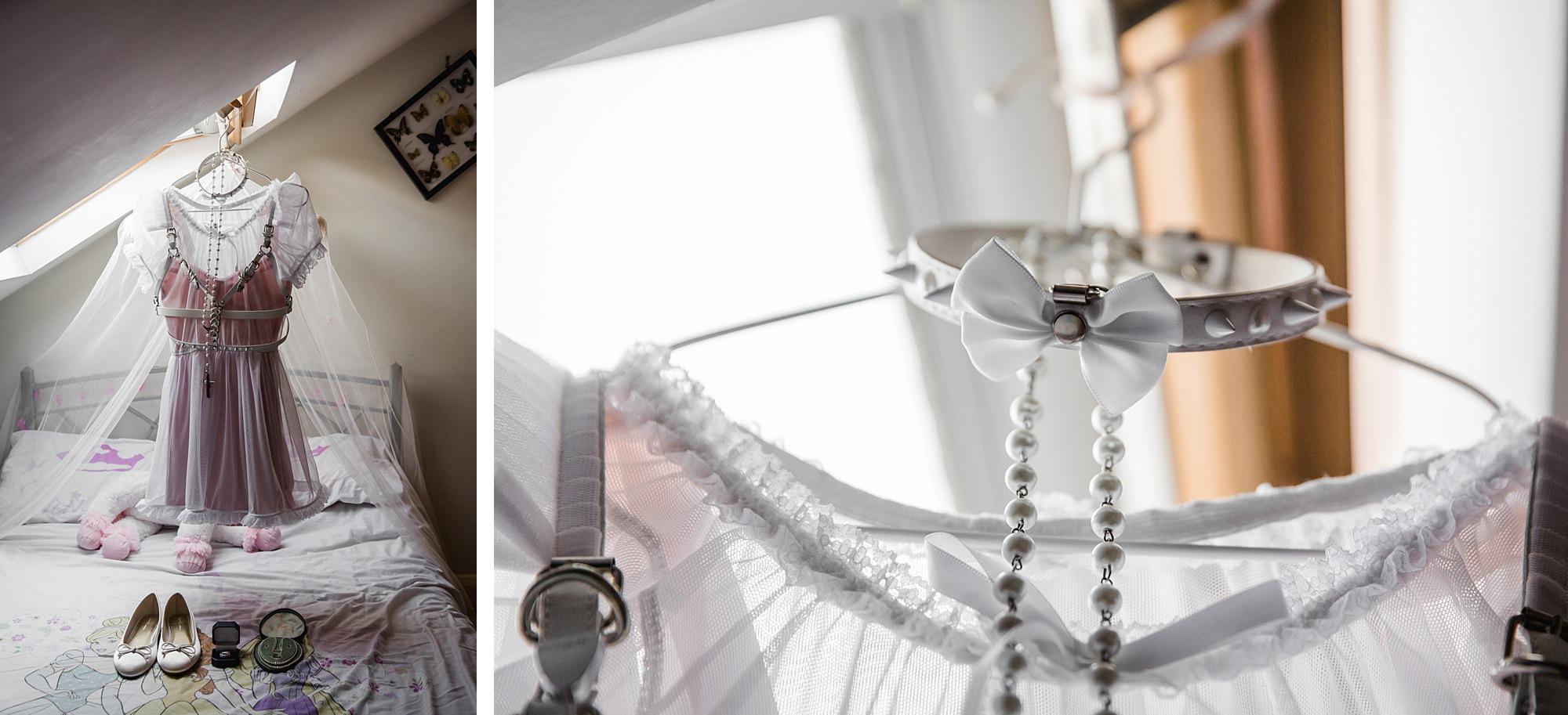 Gothic wedding London - goth lolita wedding dress