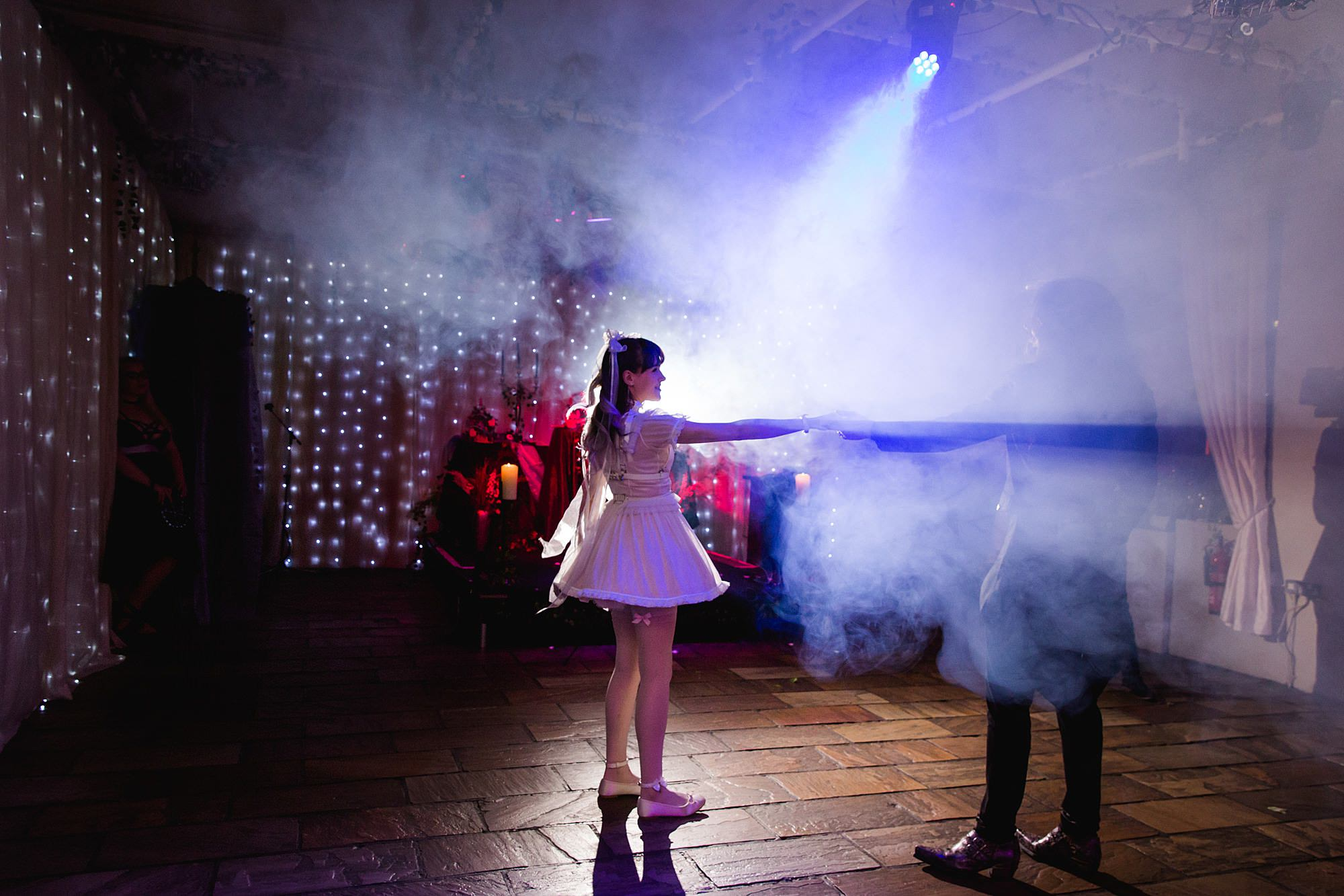 first dance at islington metalworks goth wedding