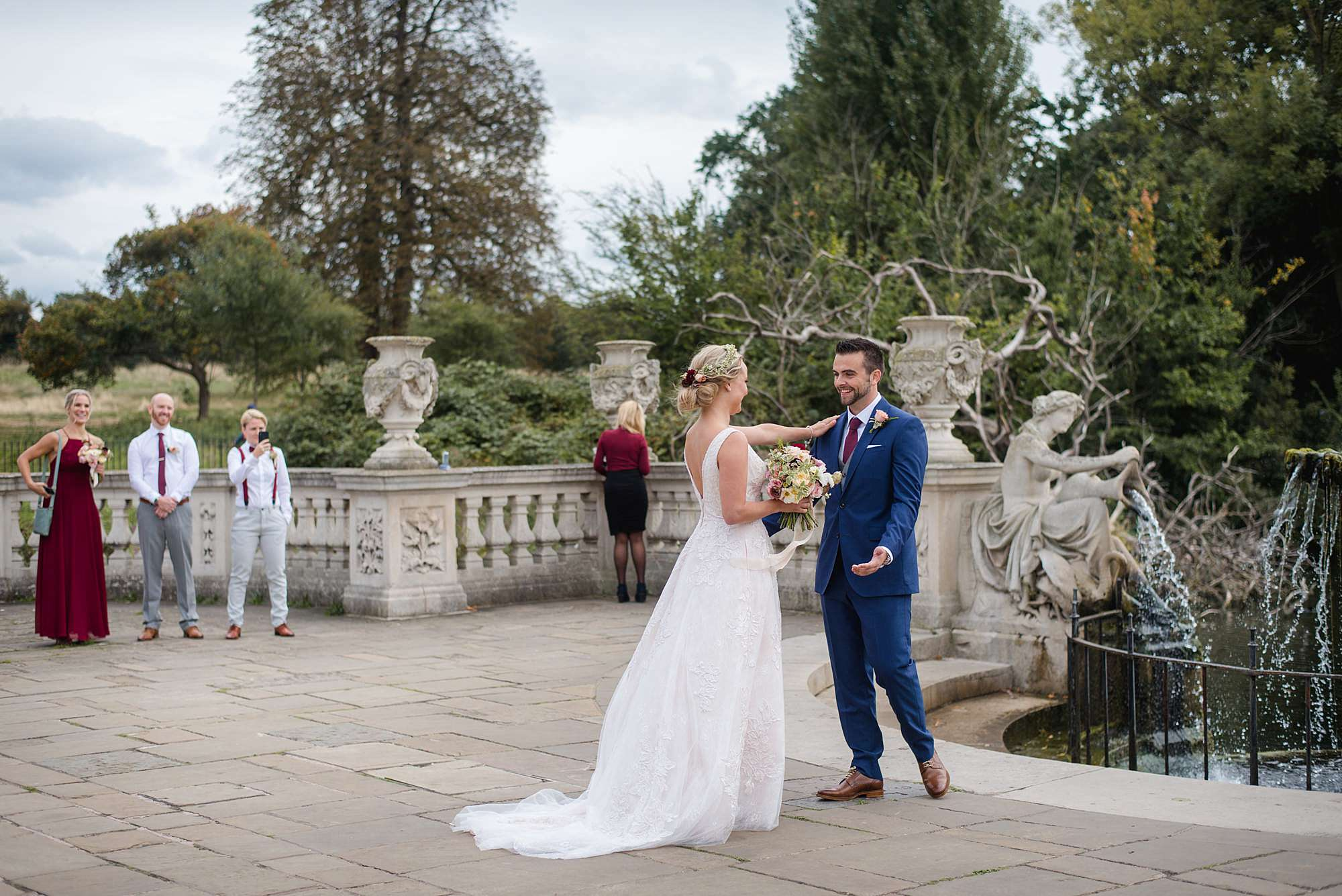 The Union Paddington Wedding groom greets bride at first look