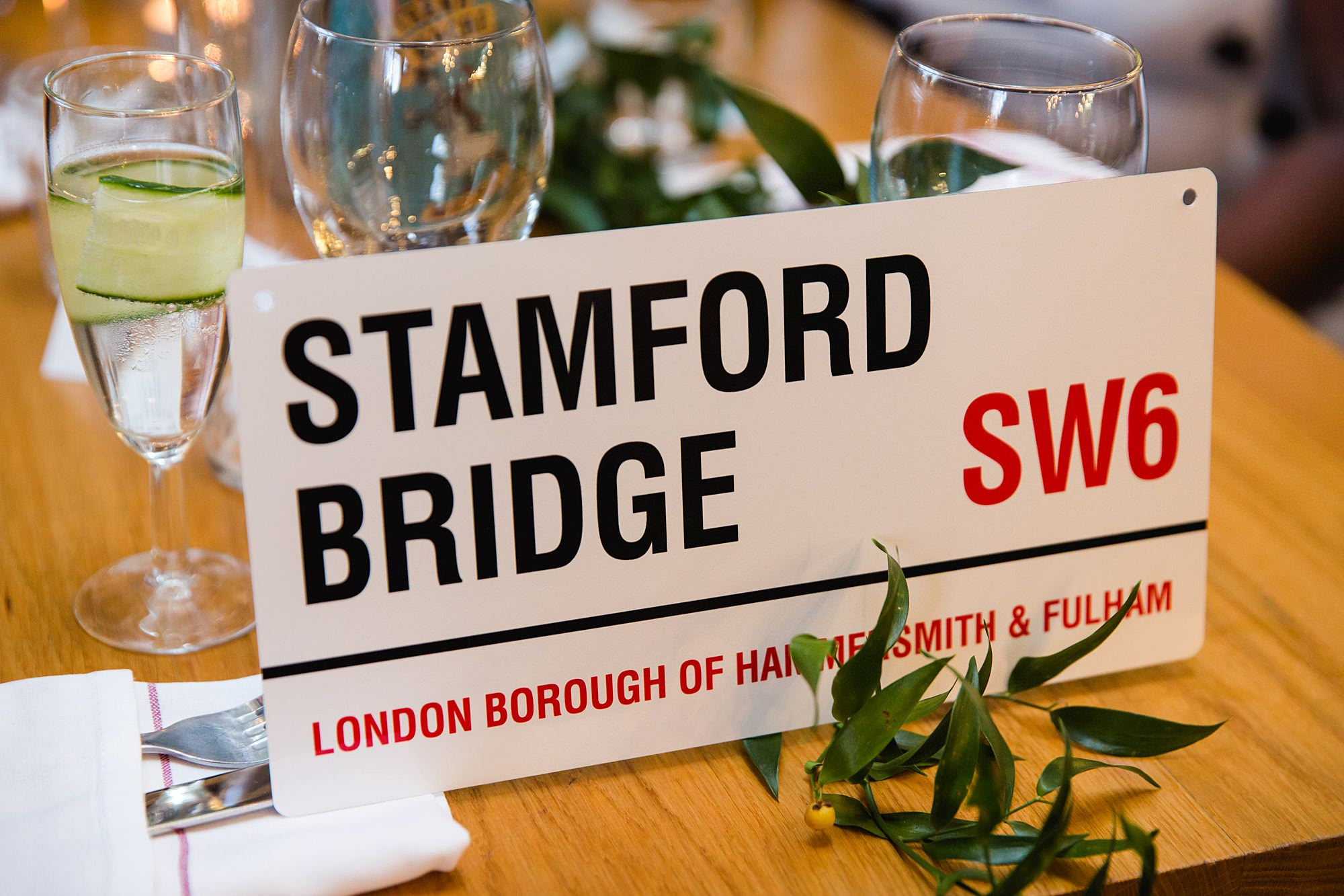 The Union Paddington wedding london theme table names