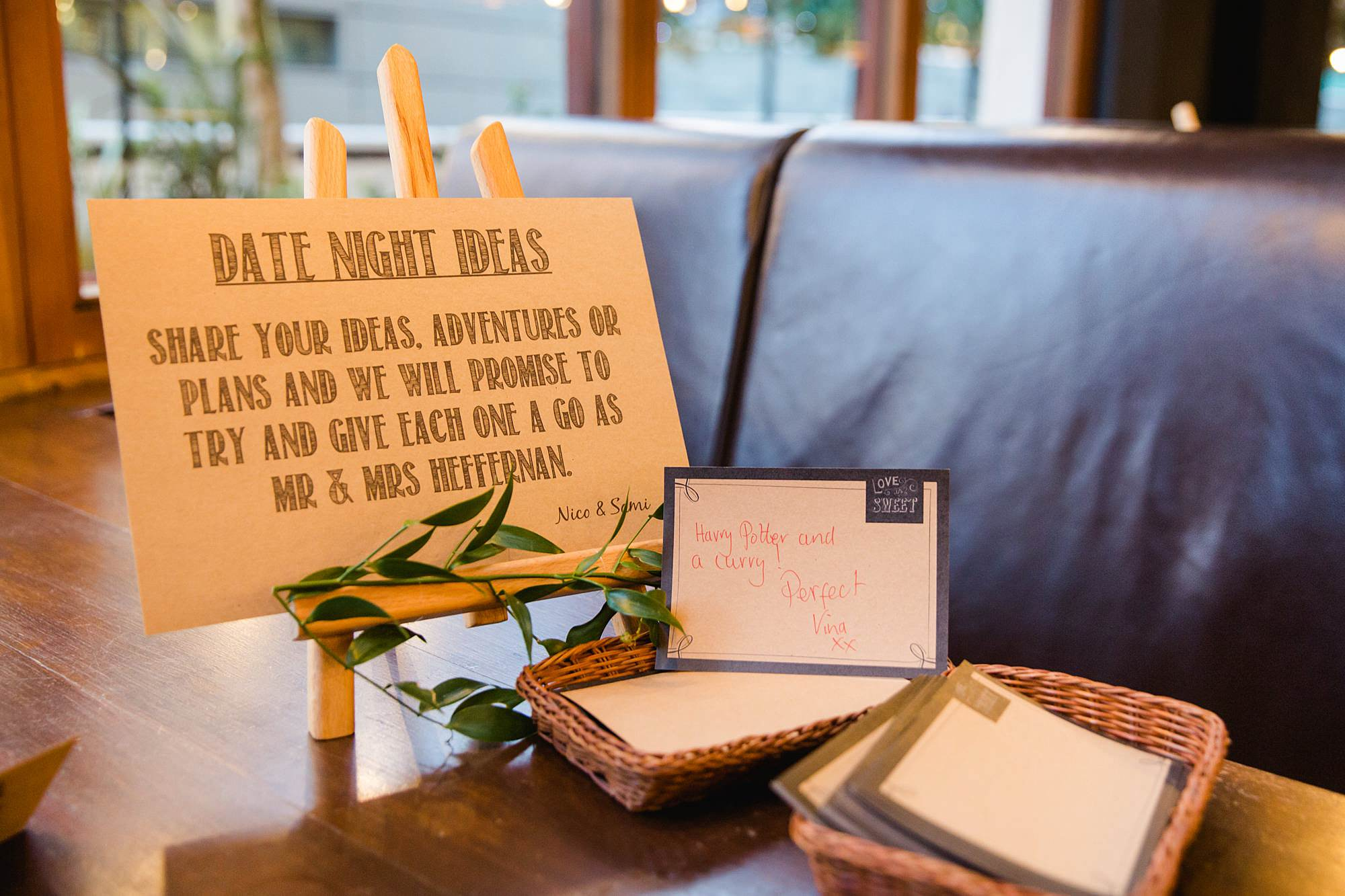 The Union Paddington wedding date night ideas decor