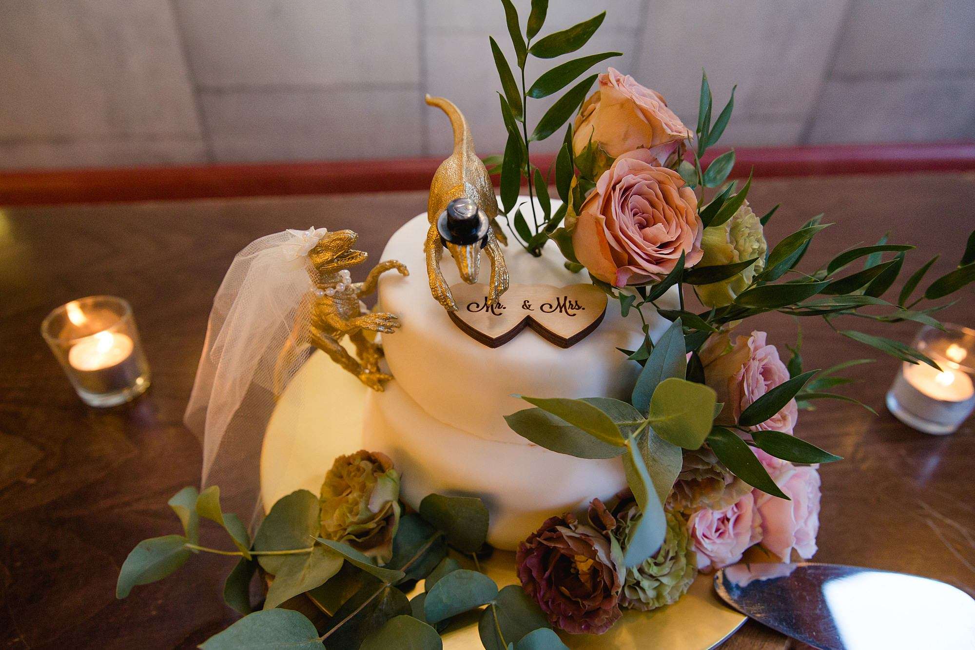 The Union Paddington wedding dinosaur wedding cake