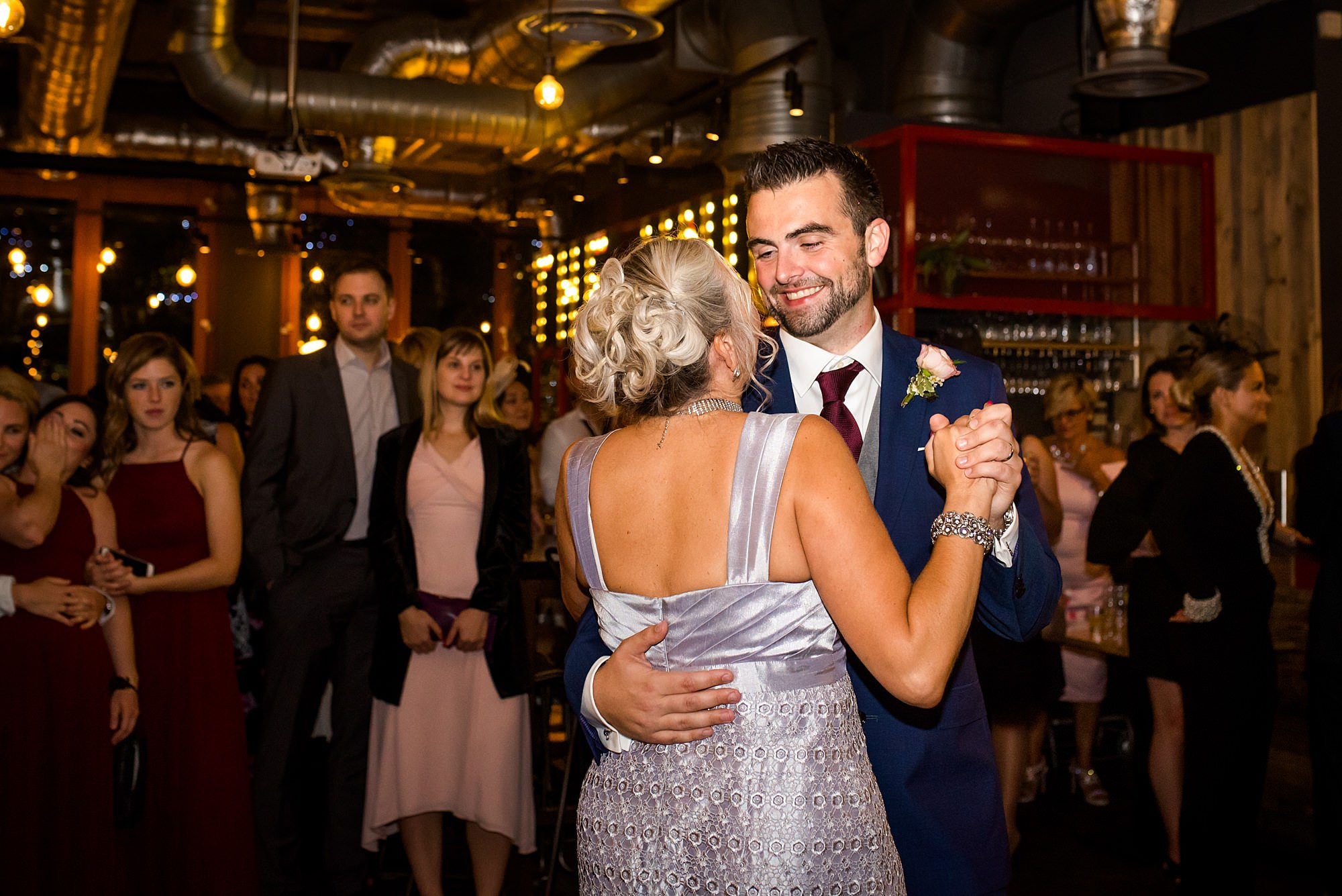 The Union Paddington wedding groom dances with his mother