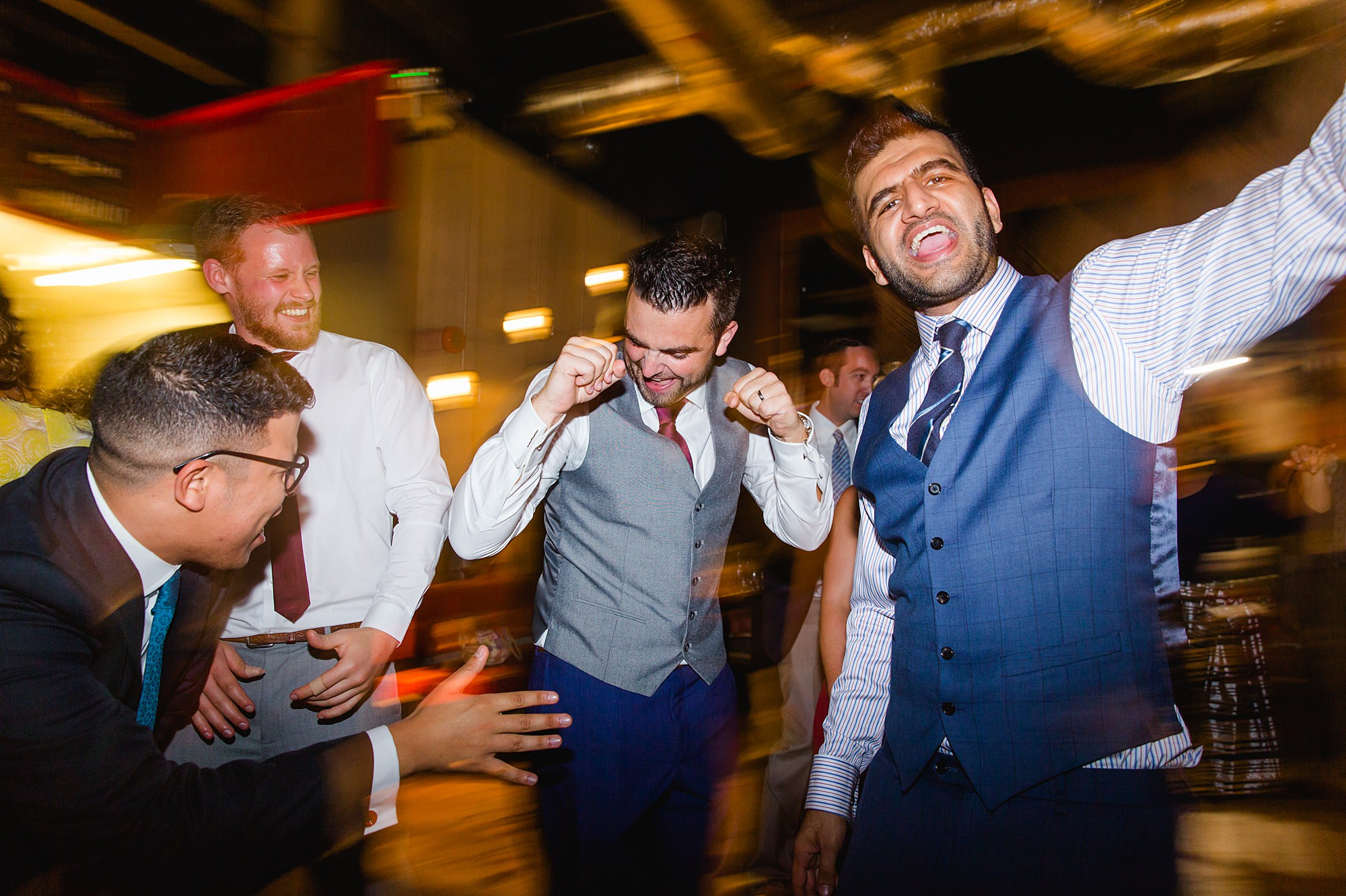 The Union Paddington wedding groom dancing with guests