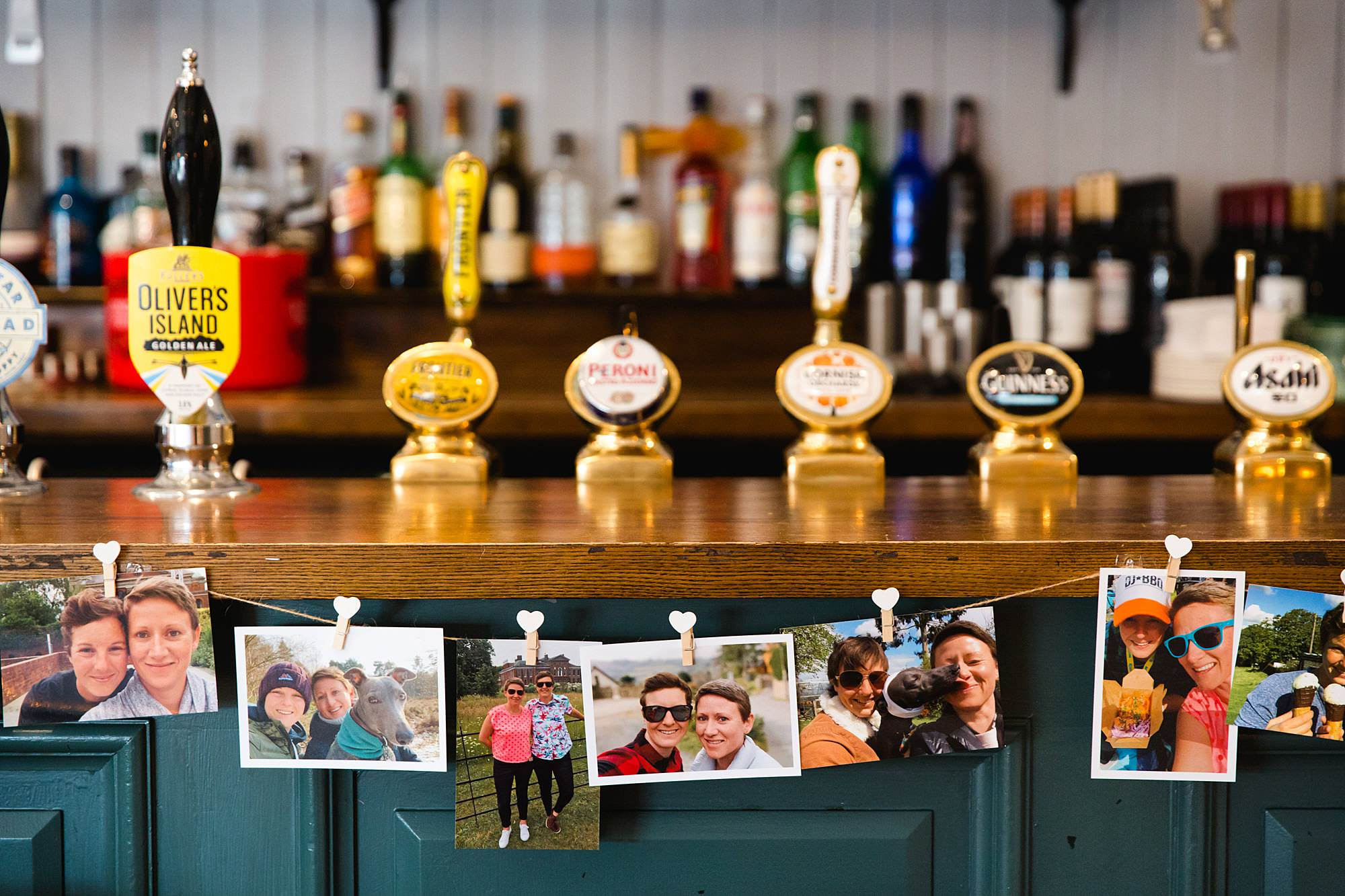 pictures of brides on display at turks head pub