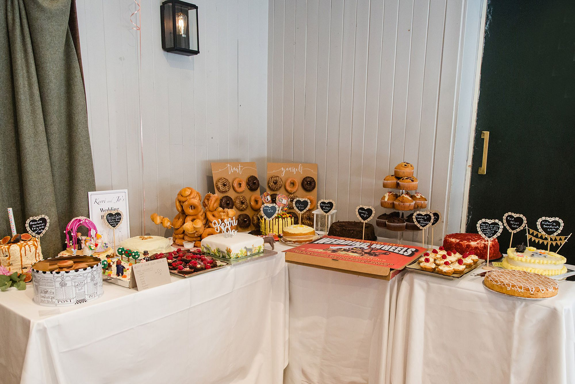 Twickenham wedding photography bake off style dessert table