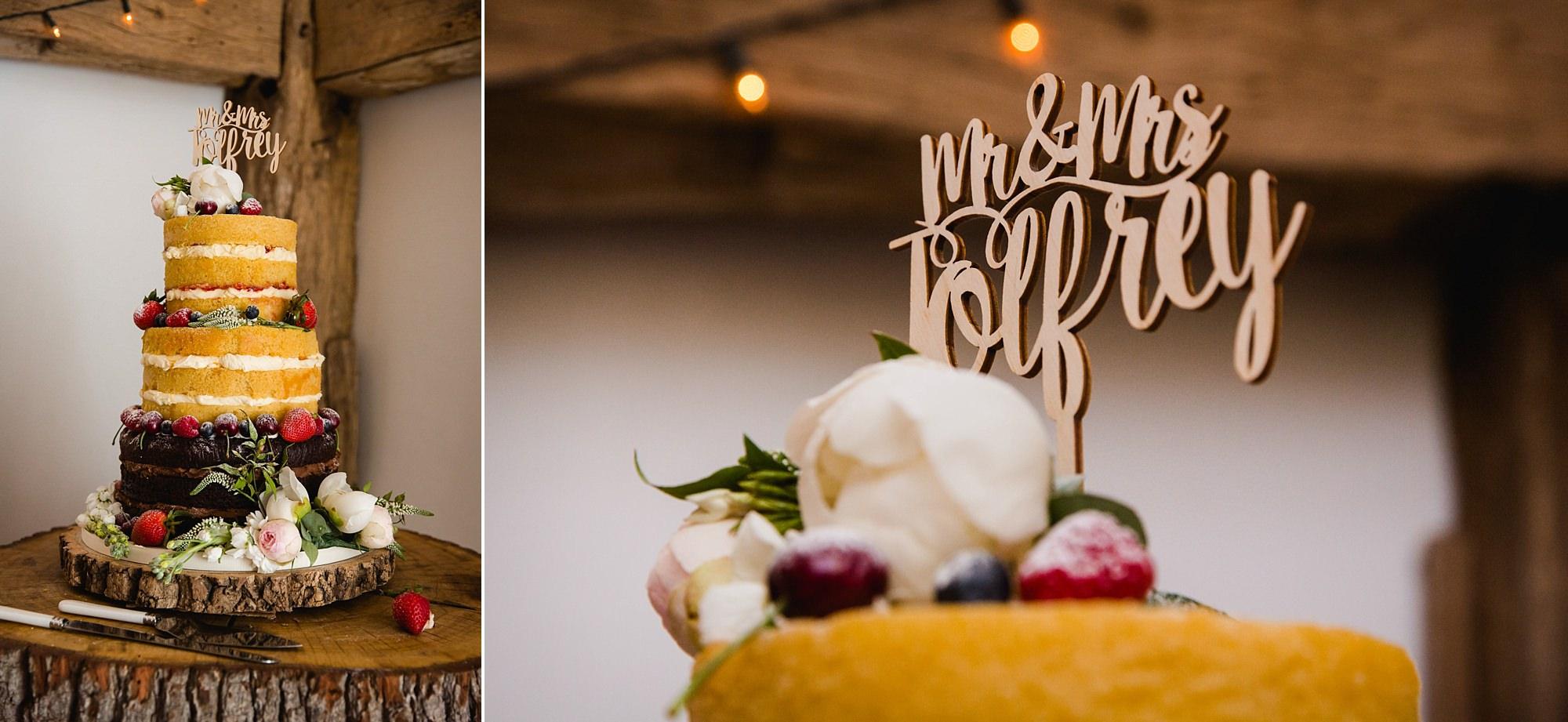 humanist wedding old greens barn wedding cake