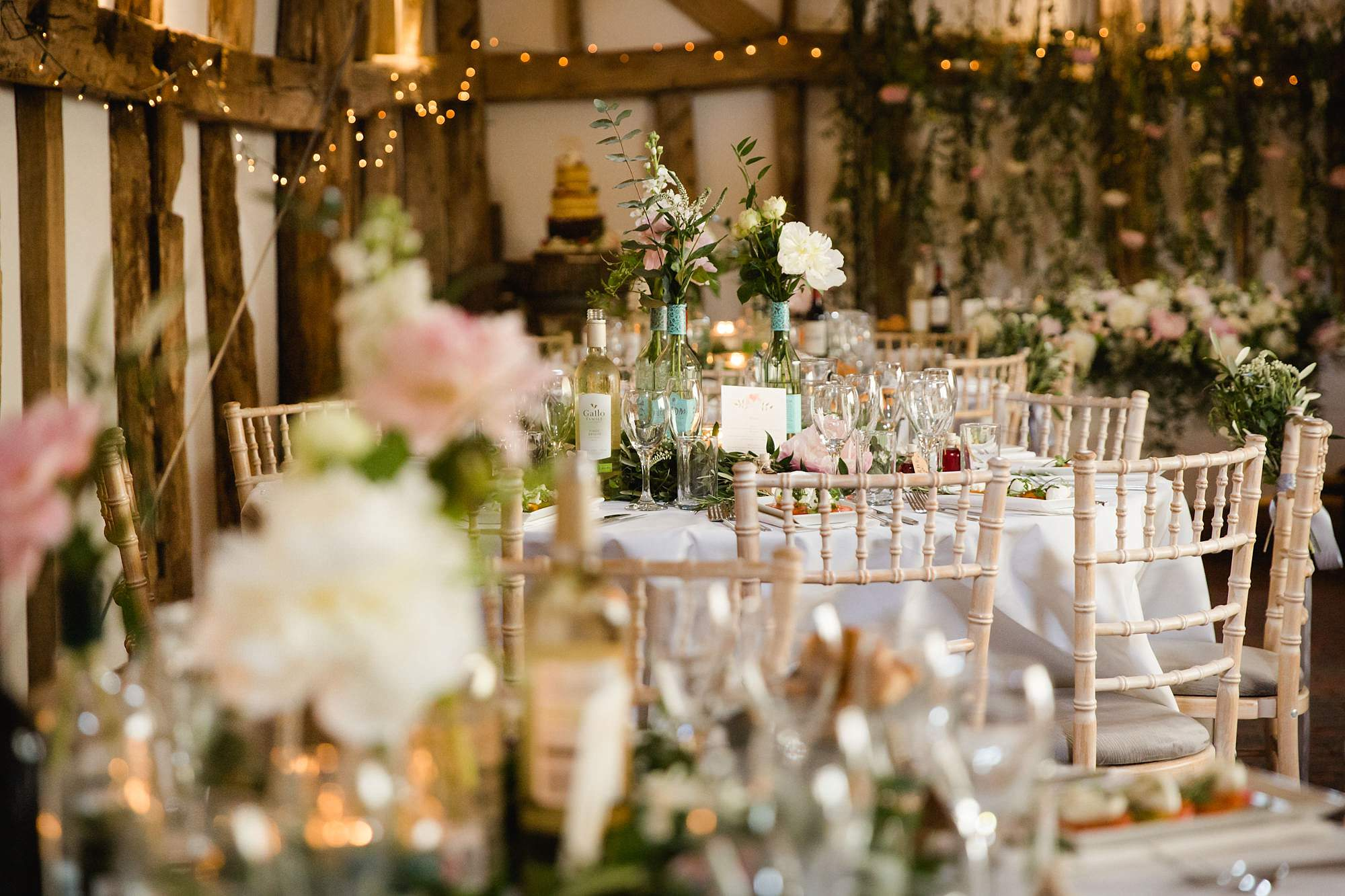 humanist wedding old greens barn floral table decorations