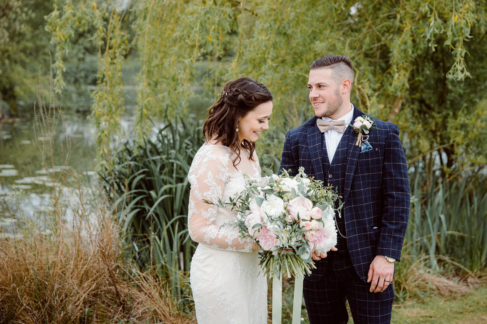 humanist wedding old greens barn bride and from together by lake